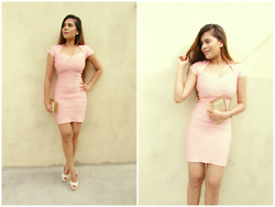 Pooja Mittal - The Kewl Shop Classic Bandage Dress - Like a lady- Blush Pink Bandage Dress