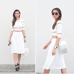 Tienlyn . - Crop Top, Midi Skirt, Industry Bag, Cross Mules - SPACE ODDITY