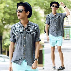 Andrés Barreto - Bershka Hat, Daniel Wellington Watch, Forever 21 Shorts - Obvious things.