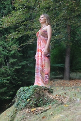 Valeria Arizzi - Giorgia&Johns Maxi Dress - Animalier print for a hot summer look