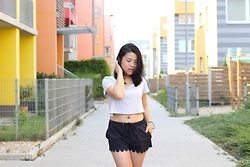 Thuy Pham - H&M Crop Top, Calliope Shorts - Cropped