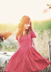 Dewi Purnama - Story Of Rivhone Polkadot Dress - One Day in Wonderland