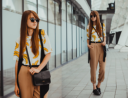 Nastia Poberezhna - Dressgal Banana T Shirt, Cndirect Crossbody Bag, Shellys London Shoes - Confessions of a Bananaholic