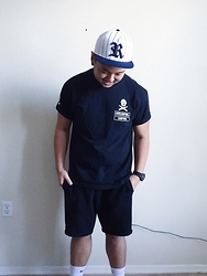 Calvin David - H&M Hat, Vape Central T Shirt, H&M Shorts, Nike Socks, G Shock Watch - Straight out of Compton