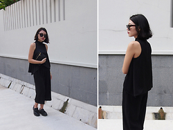Rachel - Dr. Martens Adrian Tassel Loafers, Kate Spade Saturday Bag, Asos Culottes, Cheap Monday Sunnies - Shape Shifter