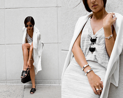 Kristina - Forever21 Kimono, Rocksbox Double Cuff, Jjdr Cuff, Clarks Loafers - You and the moon