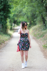 Lily Chelmey - Asos Dress, Nike Sneakers - ❀ Flowers ❀