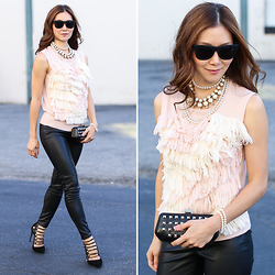 Elizabeth Lee (Stylewich) - Aquazzura Amazon Pumps, Ryan Roche For J. Crew Sweater Vest - Fuzzy