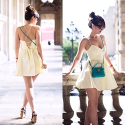 Nikita Wong - American Apparel Yellow Dress - Yellow Summer Dress