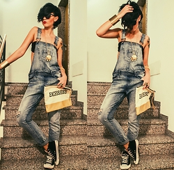 Ema Roxanne - Terranova Jumpsuit, Bershka Bag, New Yorker Shoes - Denim jumpsuit
