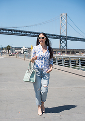 Elise Armitage - H&M Blouse, Jeans - Casual Friday