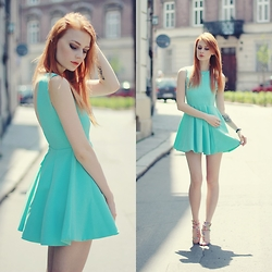 Katarzyna KOKA Konderak - Modekungen Dress, Heels - Mint dress.