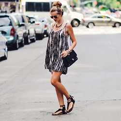 Karolina Antoniades - Abercrombie & Fitch Dress, Chanel Bag - Summer