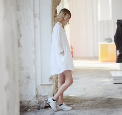 Ebba Zingmark - Monki Shirtdress, Nike Sneakers - AND LET IT OUT