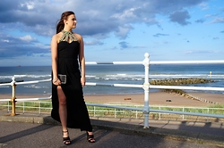 Lauren Rose Bell - Virgos Lounge Dress, Monsoon Clutch, Topshop Heels - Graduation Ball