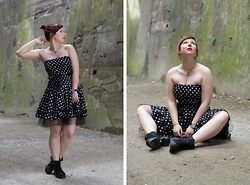 Lisa S - Shoot Boots, Dotted Dress - The dotted dress.