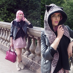 Amanda Davies - Chouchou Couture Kitty Hood, Nica Bag, Cos Shirt, Miss Selfridge Faux Leather Jacket - Oh kitty!