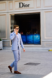 Darko Lukac - Tommy Hilfiger Suit, Gucci Loafers - D for Dior