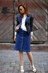 Alina Keller -  - Denim and leather