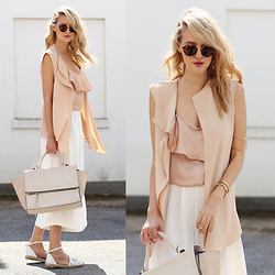 Leonie Hanne - Culottes, Waistcoat, Top, Bag, Espadrilles, Sunnies - Going flat & Culottes | ohhcouture.com