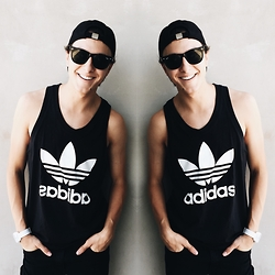 Brandon Beltran - H&M Hat, Ray Ban Sunglasses, Adidas Tank Top, Adidas Watch, Levi's® Jeans - ADIDAS