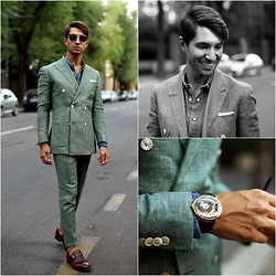 Filippo Fiora - Lanieri Suit, Boglioli Shirt, Santoni Shoes, Hugo Boss Sunglasses - EMPTY STREETS