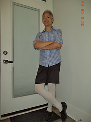 Eugene Wong - White Opaque Hosiery [Tights] - Casual Blue Birthday Suit 2015