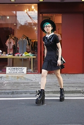 Chiemi Ito - Yru Ballet Bae, Wholesalebuying Pleated Skirt, Deandri Harness, Topshop Top, Cndirect Bag - School Girl