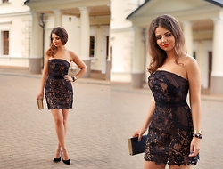 A piece of Anna . -  - Embroidered lace dress