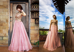 Shruti Singla - Shruti S Onion Color Gown - Love for Pastels!!