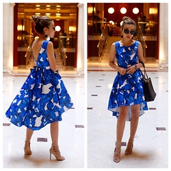 Sasa Zoe - Only $32 Dress, Sandals, Sunglasses, Earrings, Bag - FLORAL HIGH LOW