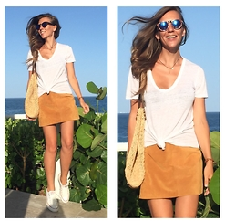 Zaichkina Lusia - 1.Staye Skirt, Joe's Jeans Shirt, Bop Basics Bag - The skirt and the ocean