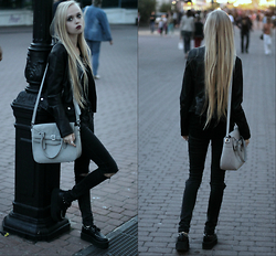 Eliza Modex - Zara Jacket, Bag, Jeans, Creepers - Rapunzel in black
