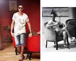 Spoke STYLE - Alcoot Tee, Alcoot Short, Vans Sneakers - THE ABANDONED HOTEL