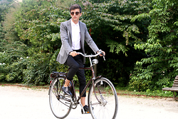 Matthias C. - Asos Cut And Sew Jacket, Asos Patterned Chino, Asos Rounded Collar Shirt - Peppy-cycle