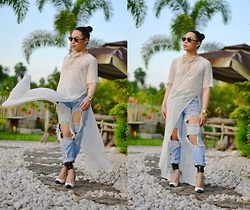 Kirk Tuan - Christian Dior Sunnies, H & M Necklace, H&M Top, Jeans, Shoes Das - The Hell I Care