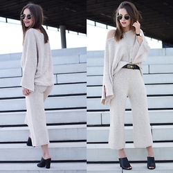 Sonja Shoppisticated - Zara Pullover And Pants, Escada Belt, Daniel Wellington Watch, Ray Ban Shades - Over all knitted
