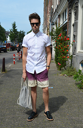 Jordi - Acne Studios Otis Shirt, Topman Dip Dye Shorts, Asos Suede Bag, Acne Studios Askin Oil Shoes - Dip Dye