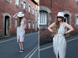 Kylie Lawson - Asos Rope Dress - Stripes and Sliders