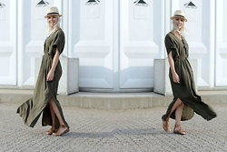 Merel - Vero Moda Maxi Dress, H&M Hat, Hush Puppies Sandals - WHY WOULD WE WAIT