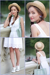 Tatiana - Jessica Simpson Dress, Urban Outfitters Pork Pie Hat - LOLITA