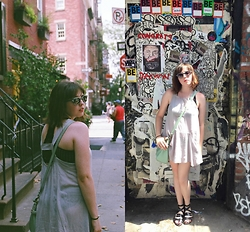 Dylan Leah - Free People Tunic Dress, Free People Bralette, Marc By Jacobs Sunnies, Kate Spade Purse - West Village, NYC