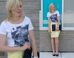Liat Neuman - Mendocino Skirt, Mbtsi Paris Shirt - Yellow Details