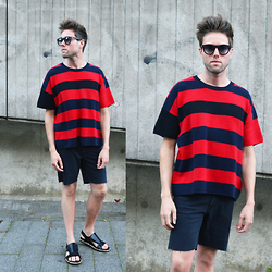 Jordi - H&M X Marni Cashmere Sweater, H&M Shorts, Dries Van Noten Sandals - Relaxed Summer