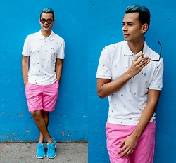 Jorge Gallegos - Original Penguin Polo, Original Penguin Shorts, Barton Perreira Sunglasses, Greats Sneakers - Ice Cream Cones Are The New French Fries