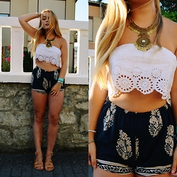 Marina Scofield - Dresslink Top, Style Moi Shorts, Style Moi Necklace - Endless summer