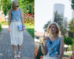 Liat Neuman - Pull & Bear Shirt, Zara Skirt, Dorothy Perkins Clutch - Happy in Tel Aviv