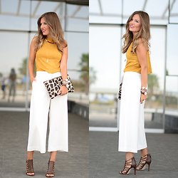 Helena Cueva - Fashion Pills Top, Zara Pants, Zara Sandals, Stradivarius Necklaces, Suiteblanco Clutch - Halter Top