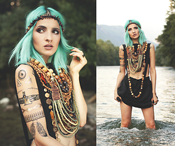 Gina Vadana - Style Moi Flash Tattoos, Elisha Francis Septum, Choies Knitted Crop - INSPIRED BY NATURE
