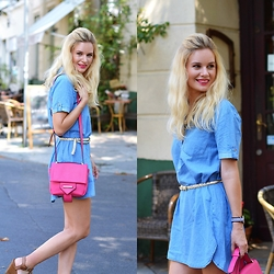 Kamila Libelula - Oasap Jeans Dress - Jeans with Pink